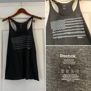 Reebok flag tank. Black. L.